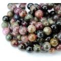 Tourmaline Beads, Multicolor, 8mm Round