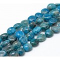 Apatite Beads, Blue Green, Medium Pebble