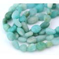 Matte Amazonite Beads, Natural, Small Nugget