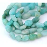 Matte Amazonite Beads, Natural, Small ..
