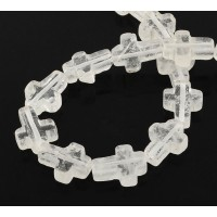 Quartz Crystal Beads, 16x12mm Flat Cross