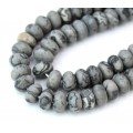 Matte Scenery Jasper Beads, Natural, 5x8mm Smooth Rondelle, 15 Inch Strand