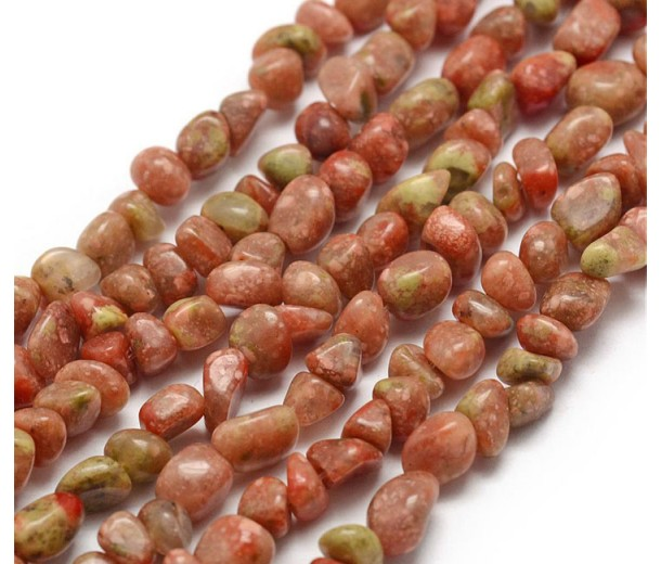 Autumn Jasper Beads, Small Nugget