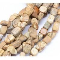 Picture Jasper Beads, Medium Rectangular Nugget