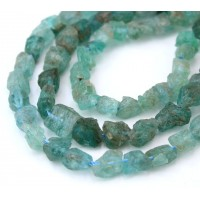 Kyanite Beads, Blue Green, Rough Nugget