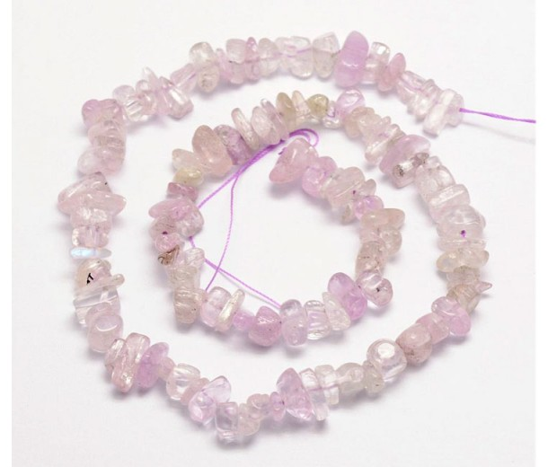 Kunzite Beads, Semi-Transparent, Medium Chip