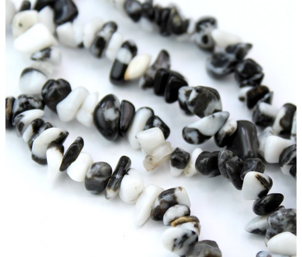 Mexican Zebra Jasper Beads, Medium Chip
