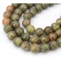Autumn Jasper Beads, Natural, 10mm Round
