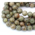 Autumn Jasper Beads, Natural, 10mm Round