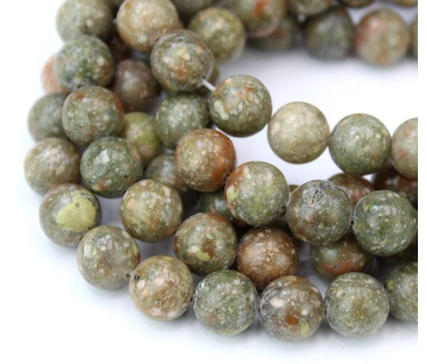 Autumn Jasper Beads, Natural, 8mm Round