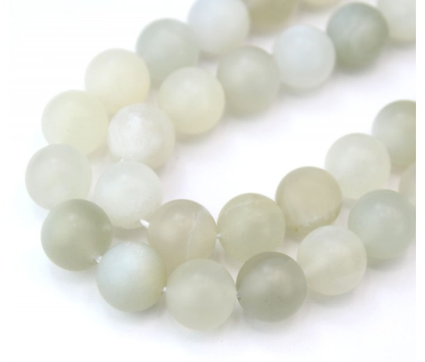 Matte Moonstone Beads, Natural, 8mm Round