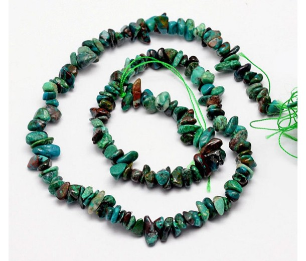 Chrysocolla Beads, Small Chip