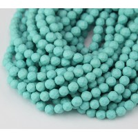 Imitation Turquoise Beads, Light Blue, 4mm Faceted Round