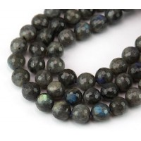 Labradorite Beads, 8mm Faceted Round
