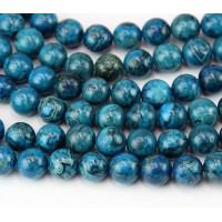 Crazy Lace Agate Beads, Blue, 8mm Round
