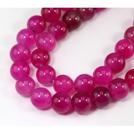 Dyed Agate Beads, Pink, 10mm Round