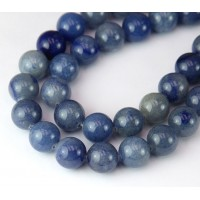 Blue Aventurine Beads, Natural, 10mm Round