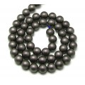 Hematite Beads, Matte Dark Grey, 8mm Round
