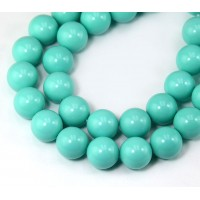 Imitation Turquoise Beads, Light Teal, 10mm Round