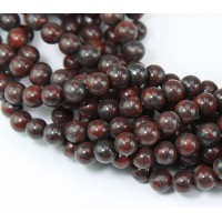 Brecciated Jasper Beads, 4mm Round