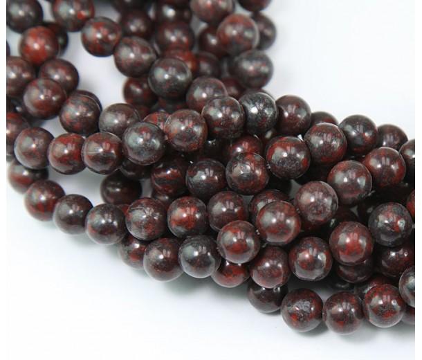 Brecciated Jasper Beads, Natural, 4mm Round