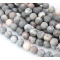 Matte Pink Zebra Jasper Beads, Natural, 6mm Round