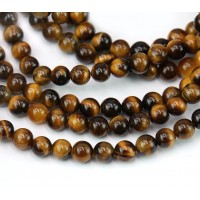 Tiger Eye Beads, Natural, 6mm Round