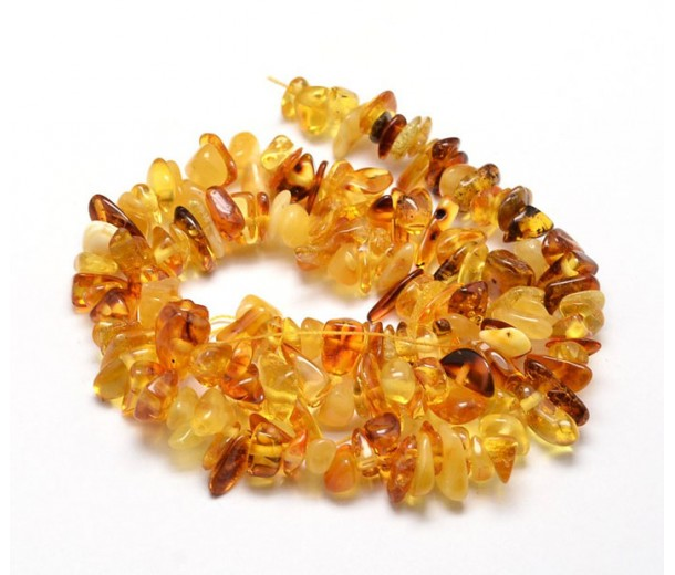 Amber Beads, Natural Yellow, Small Chip