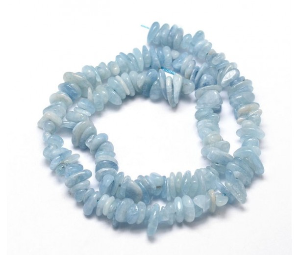 Aquamarine Beads, Pale Blue, Small Chip