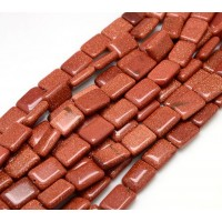 Goldstone Beads, Brown, 18x12mm Rectangle