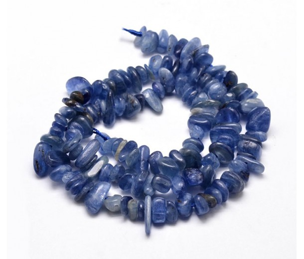 Kyanite Beads, Medium Blue, Small Chip