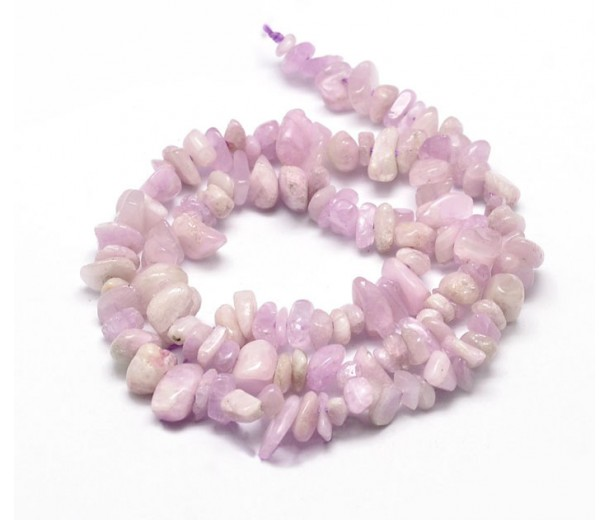 Kunzite Beads, Opaque Light Purple, Medium Chip