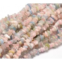 Morganite Beads, Mixed Color, Small Chip