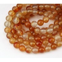 Carnelian Beads, Natural, 8mm Round