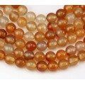 Carnelian Beads, 8mm Round