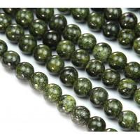 Russian Serpentine Beads, Grass Green, 10mm Round