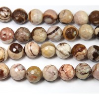 Zebra Jasper Beads, Natural, 8mm Faceted Round