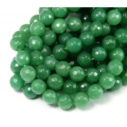 Green Aventurine Beads, 8mm Faceted Round