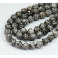 Scenery Jasper Beads, 10mm Faceted Round