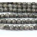 Scenery Jasper Beads, 8mm Faceted Round, 15 inch strand