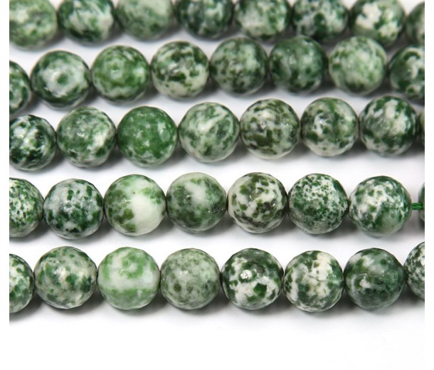 Tree Agate Beads, 10mm Faceted Round