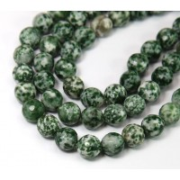 Tree Agate Beads, 8mm Faceted Round