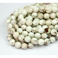 Magnesite Beads, Natural Color, 8mm Faceted Round