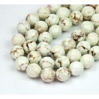 Magnesite Beads, Natural Color, 10mm Faceted Round