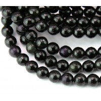 Rainbow Obsidian Beads, 8mm Faceted Round
