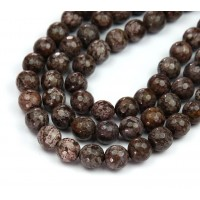 Brown Snowflake Obsidian Beads, Natural, 10mm Faceted Round