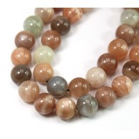 Mixed Sunstone & Moonstone Beads, 10mm Round