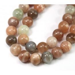 Mixed Sunstone & Moonstone Beads, 10mm Round