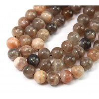 Mixed Sunstone & Moonstone Beads, 8mm Round