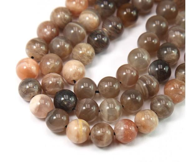 Mixed Sunstone & Moonstone Beads, 8mm Round